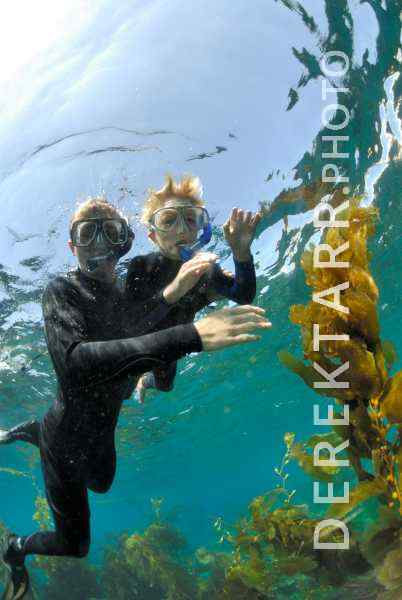 Boys Snorkeling