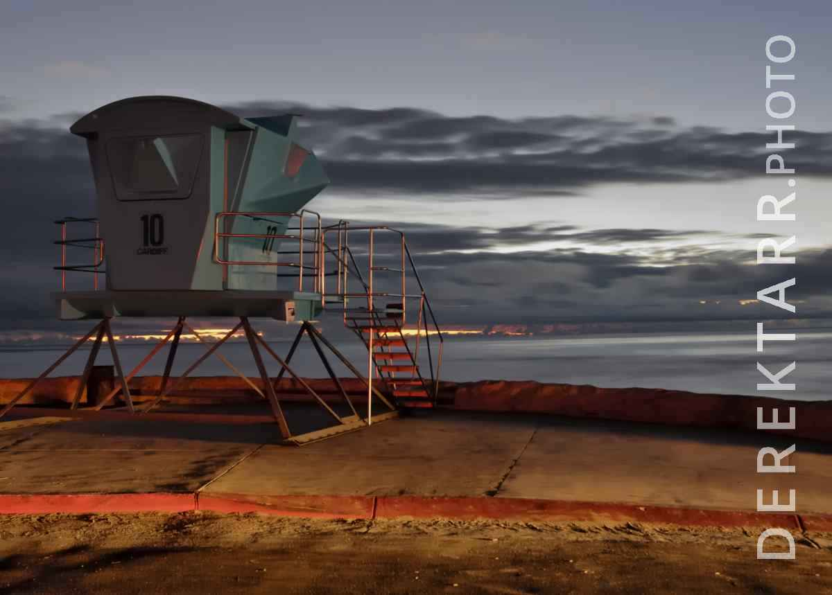 large view of Cardiff Lifeguard Tower #10