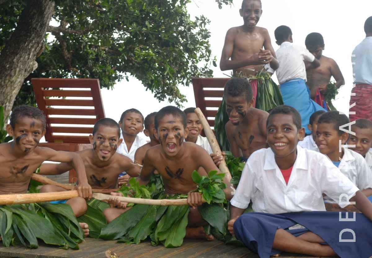 large view of Scary Faces and Smiles of Fijian Children