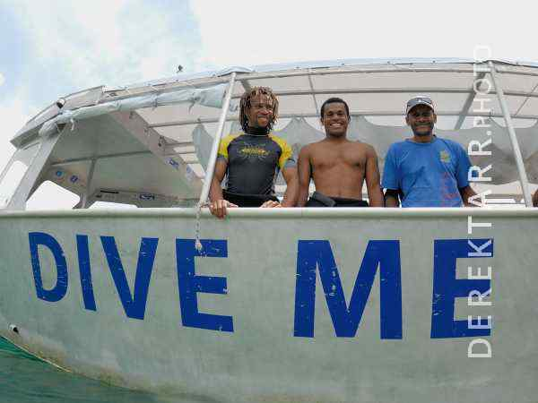 Divemaster and Crew Aboard the Dive Me boat