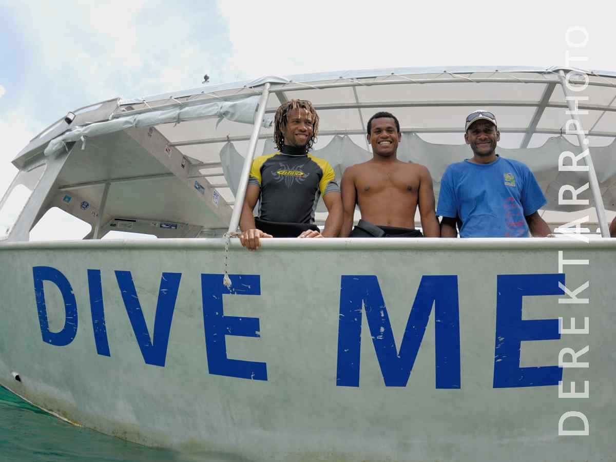 large view of Divemaster and Crew Aboard the Dive Me boat