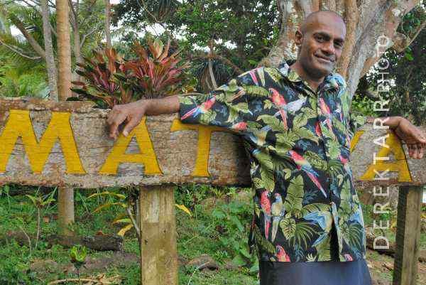 Matava Staff Member and Matava Sign