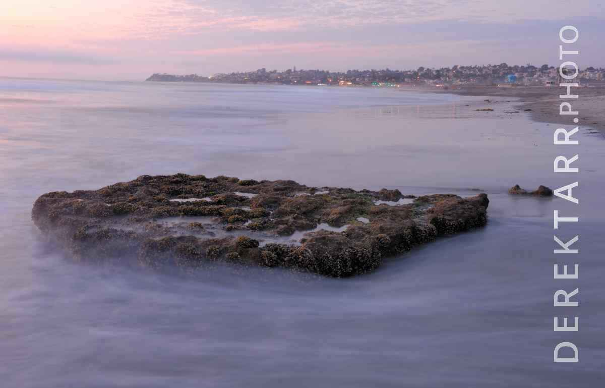 large view of Wave Water Flowing around Reef