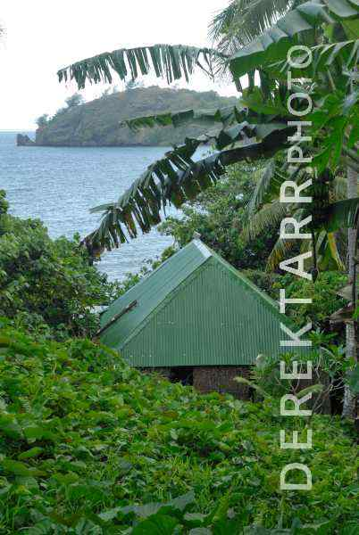 Metal Roofed House Overlooking Waya Island