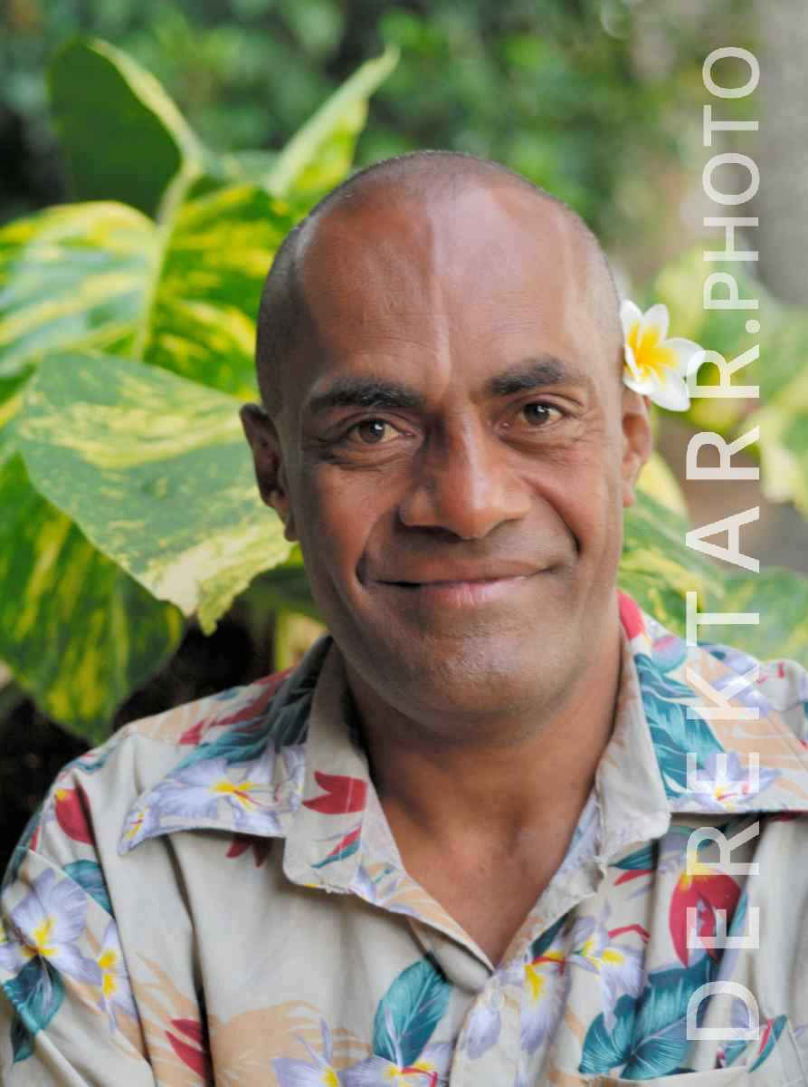 large view of Smiling Fijian Man
