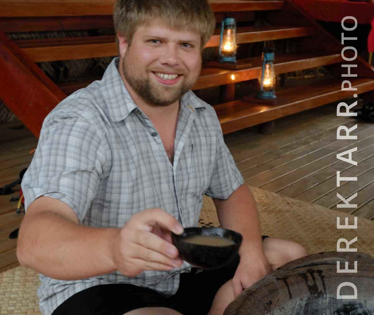 large view of Smiling Man Offers Kava