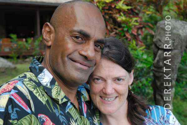 Fijian Man and Woman Smiling at Matava resort