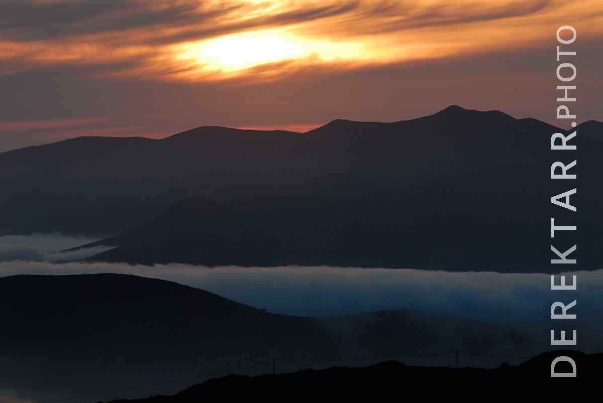 large view of photograph of West End Sunset and Fog