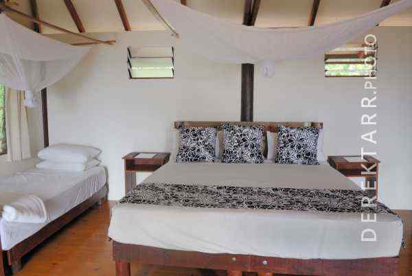 Interior of Two Trees Bure at Matava Resort