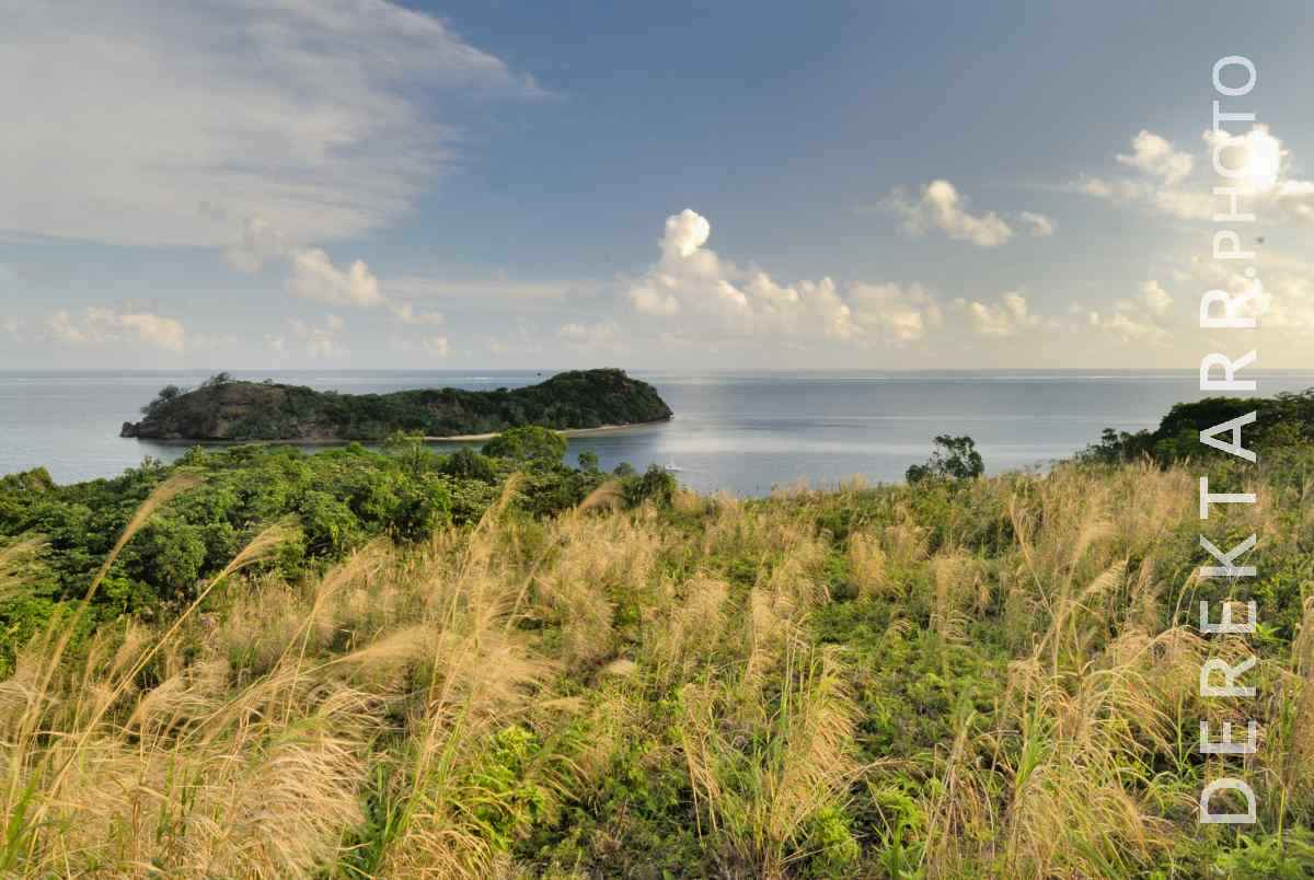 large view of View of Ocean and Waya Island in Fiji