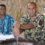image detail page for Fijian Men Preparing Kava for Lovo Ceremony at Matava Resort