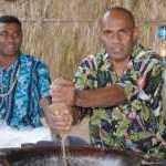 image detail page for Fijian Men Preparing Kava for Lovo Ceremony at Matava Resort