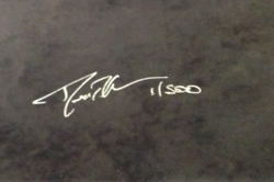 Photograph of a signed limited edition print